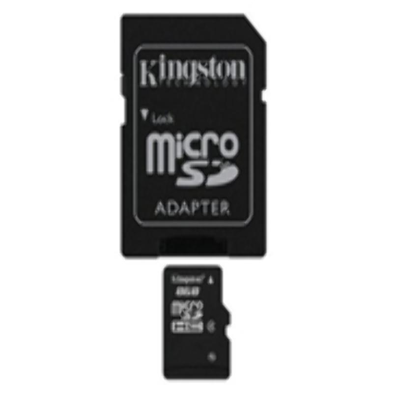 Memoria Micro SD HC 8GB Kingston Class 4 + Adaptador SD