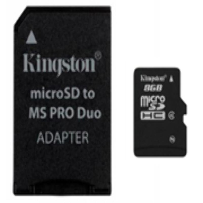Memoria Micro SD HC 8GB + Adaptador MS Duo Kingston