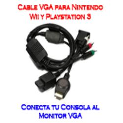 Cable VGA HD RCA para Nintendo Wii / Sony PS3 Playstation 3