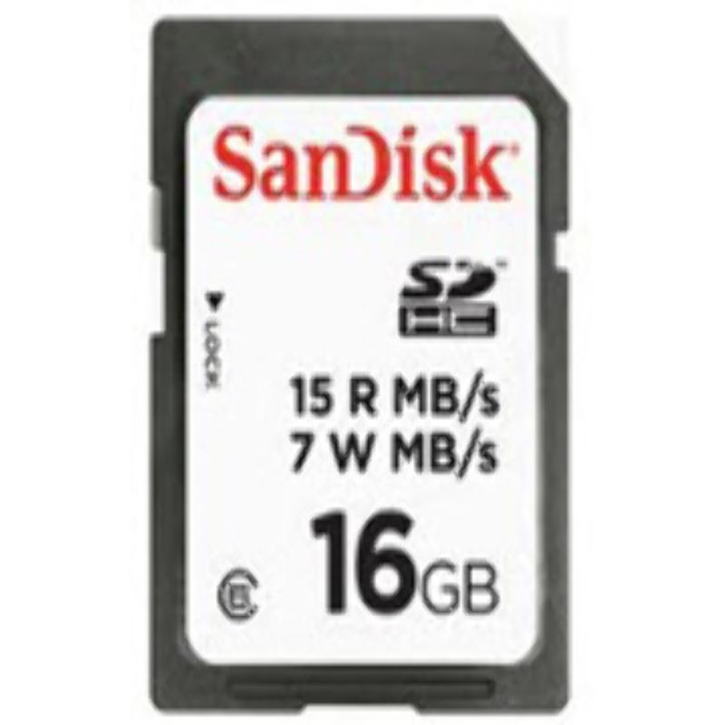 Memoria SD HC 16GB Sandisk Clase 6 15Mb/s