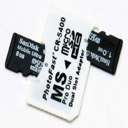 Adaptador Micro SD a 2 x MS Pro DUO Memory Stick