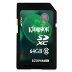 Memoria SD HC 64GB Kingston Clase 10 SDX10V/64GB