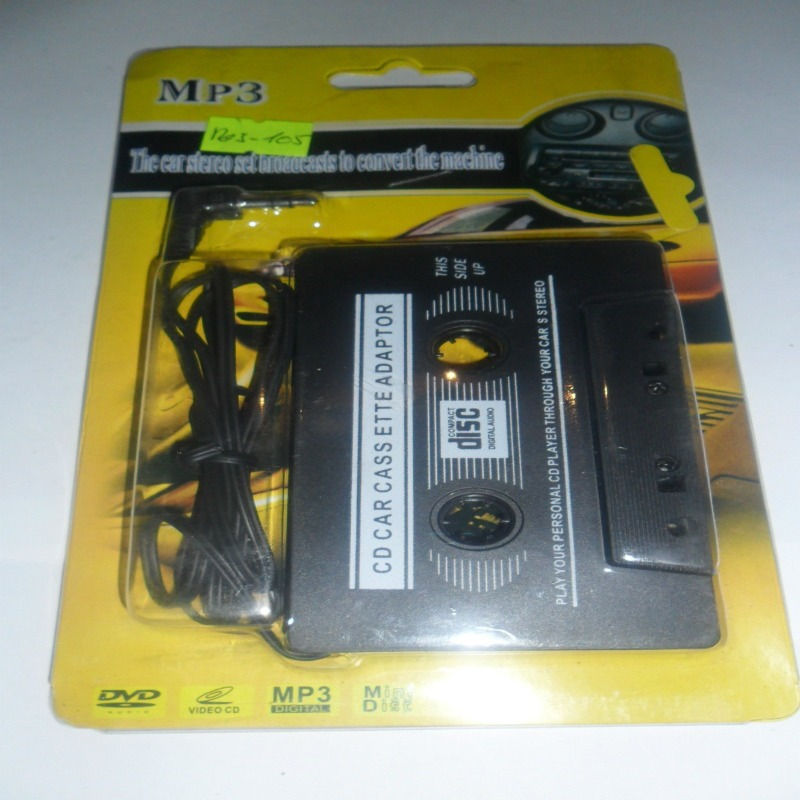 Cassette Adaptador 3,5mm Plug Mp3