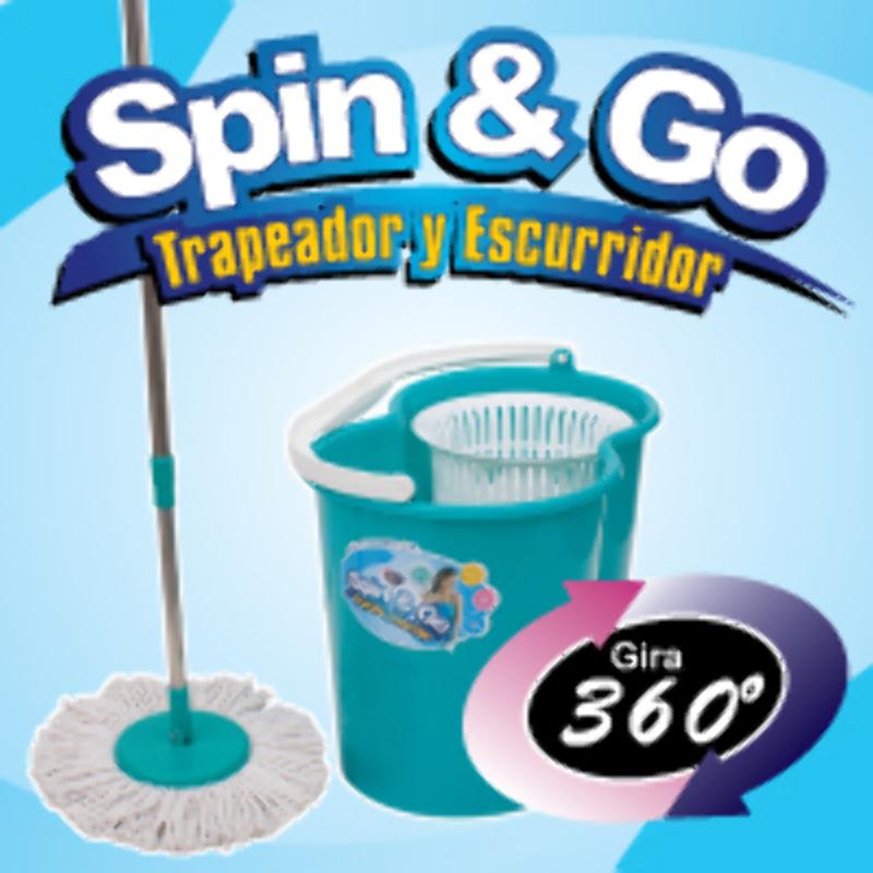 Spin & Go Mopa Trapeador Gira 360° Pedal