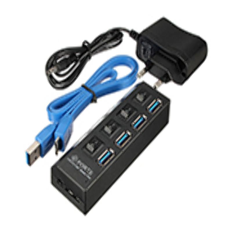 Hub USB 3.0 4 puertos con AC