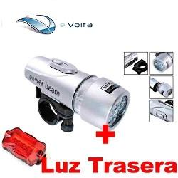 Linterna Led Bicicleta + Luz Trasera