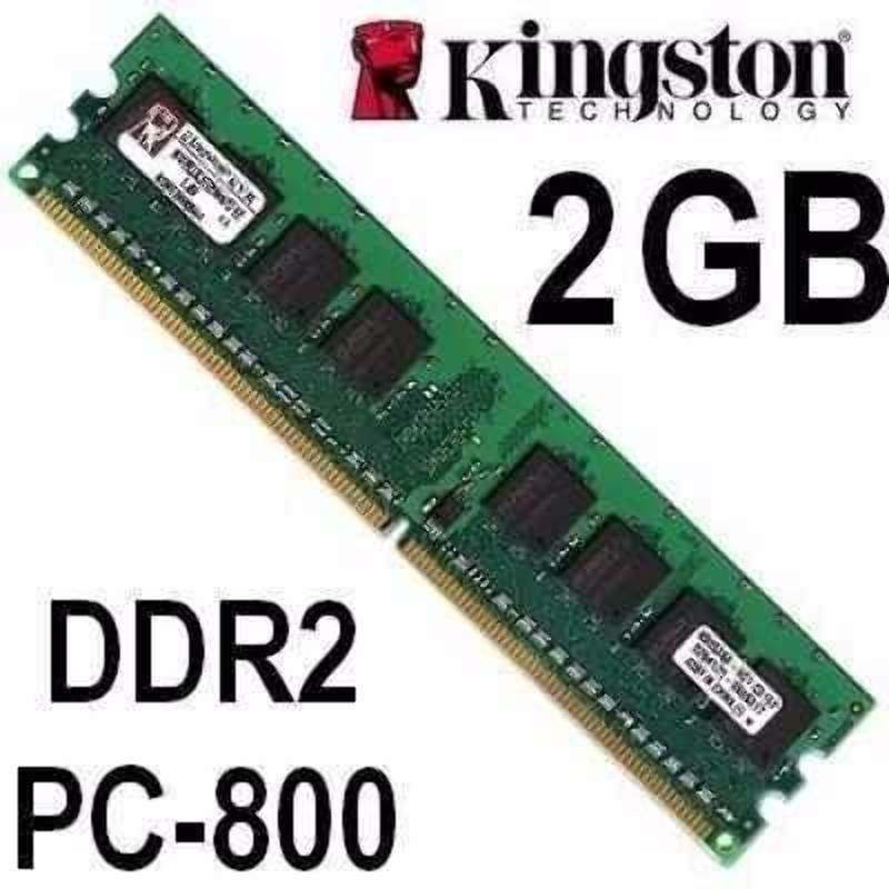 Memoria RAM 2GB PC Kingston DDR2 800MHz PC2-6400