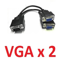 Cable Splitter VGA 2 Salidas