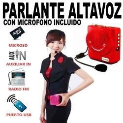 Megafono Parlante Reproductor Mp3 FM USB SD