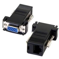 2 Extensor Vga Hembra A Conector Rj45 Cat5 5e
