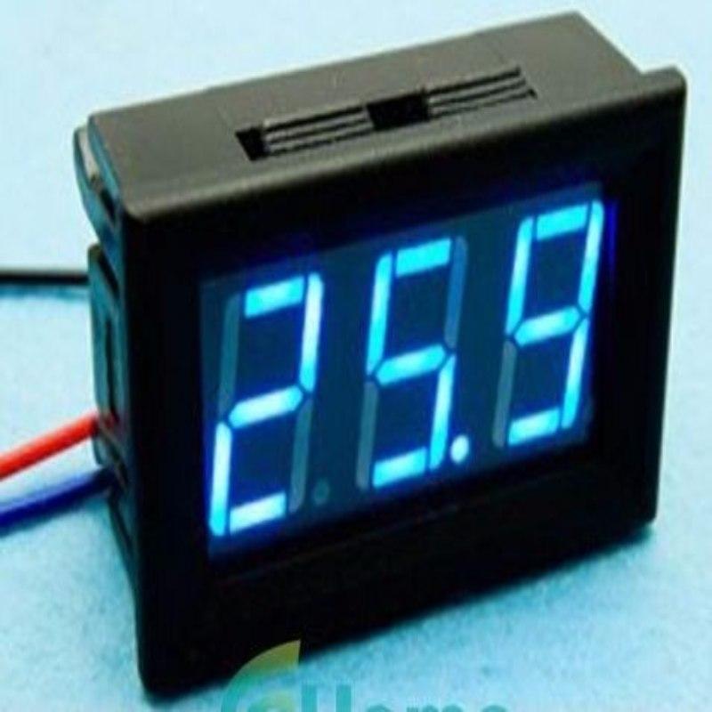 Voltimetro de Panel 0-30v Azul Arduino Pic Arm Av