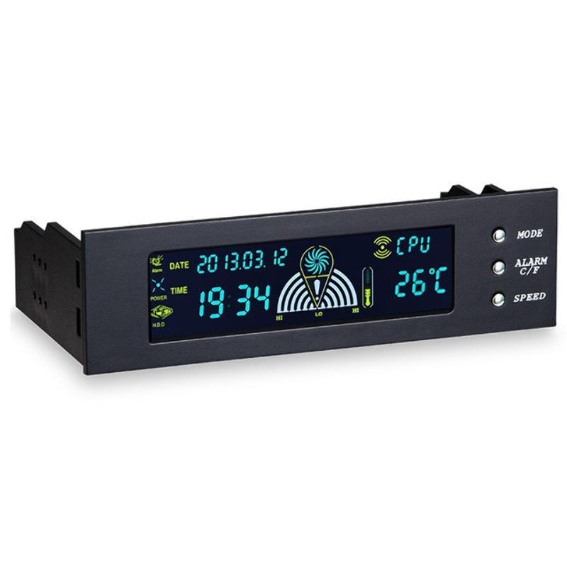 """Panel Controlador Ventiladores 3 Canales Automatico 5.25"""" Led LC"""