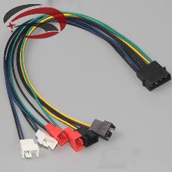 Cable IDE 4pin Molex 6 puertos Ventilador 2pin 12v 7v 5v