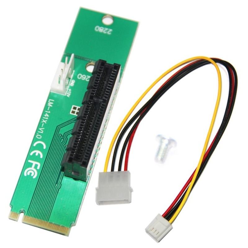 Tarjeta Adaptador PCI-E 4X NGFF M2 M.2 SSD Expansion PCI Express