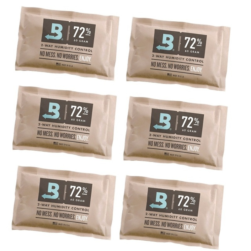 6 Sobres Boveda Pack 72% 60gr Control Humedad