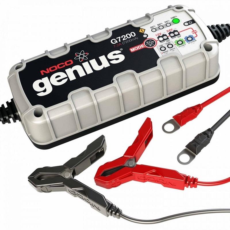 Cargador Bateria Auto Moto Vehiculos Noco® Genius G7200EU 12V 24