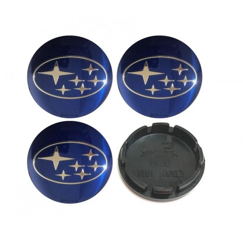 4 Tapa Centro Llanta Emblema Subaru 56mm
